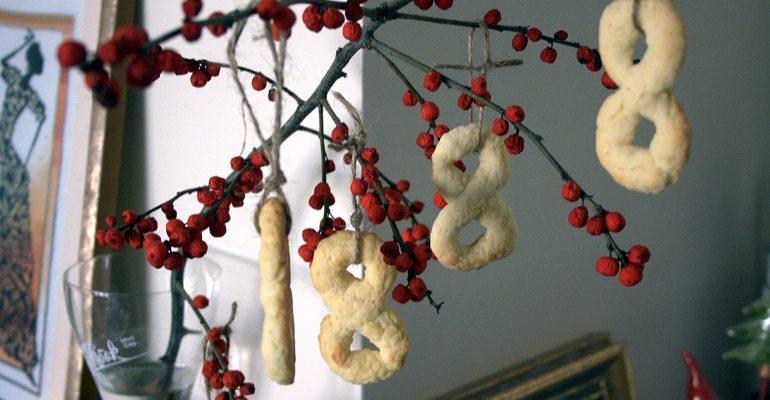Skaičiukai-sausainiai – valgomos dekoracijos