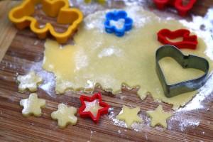 Formeles sausainiams rinkitės mažesnes