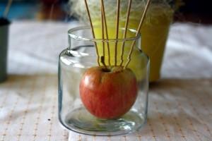Margučius galime susmeigti į obuolį