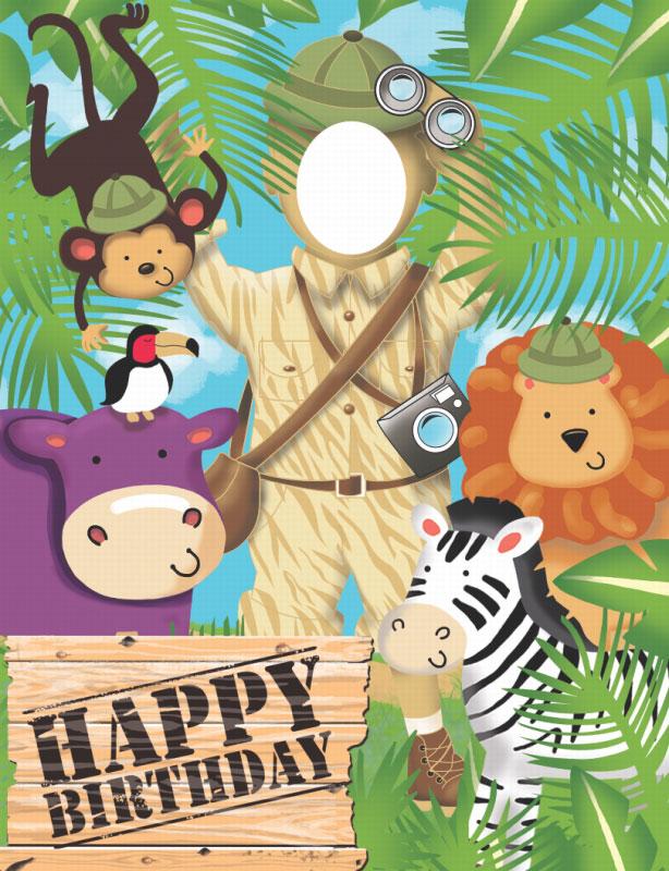 Plakatas fotografavimuisi – smagi pramoga safari gimtadieniui