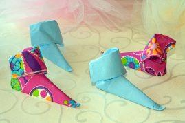 elfų batai iš servetėlių