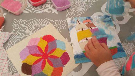 gimtadienis vaikams mandalų kūrimas