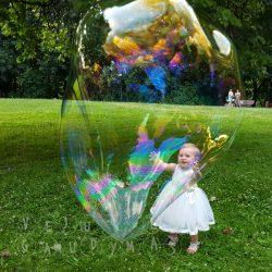 krikštynos muilo burbulai