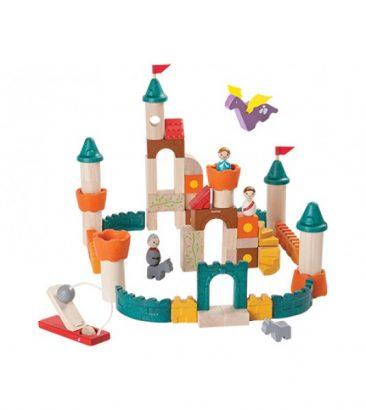 žaislinė medinė pilis