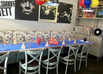 vaikų gimtadienis picerijoje