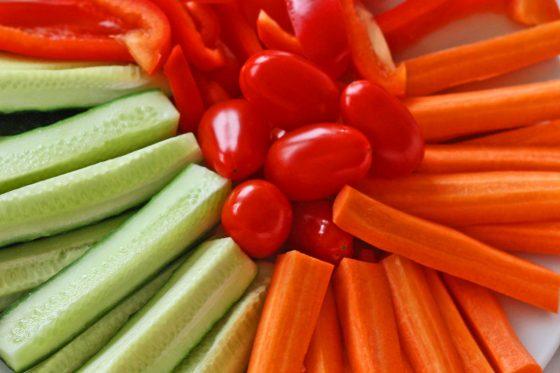 daržovės vaikų kelionei