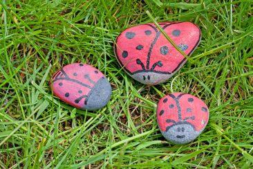 piešimas ant akmenukų