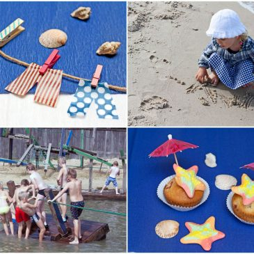 Šventė paplūdimyje arba gimtadienis jūros šventės tema