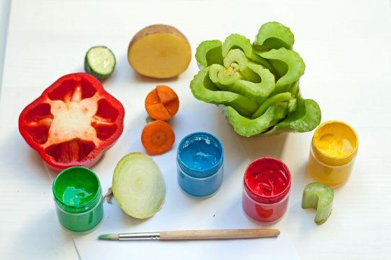 antspaudai su daržovėmis