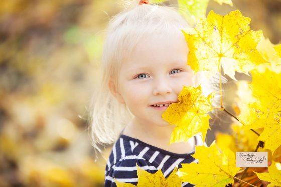 vaikų fotosesija rudenį