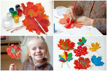 spalvojame rudenį kūrybiniai darbeliai darželinukams