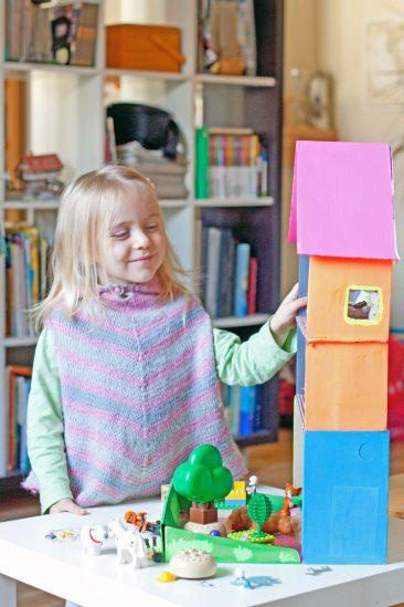 kartoninis namas žaislams pasidaryk pats