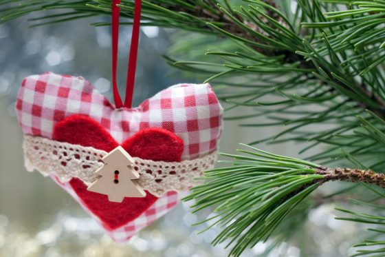 kalėdinė širdelė