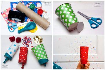 linksmieji fejerverkai, arba kaip pasidaryti konfeti