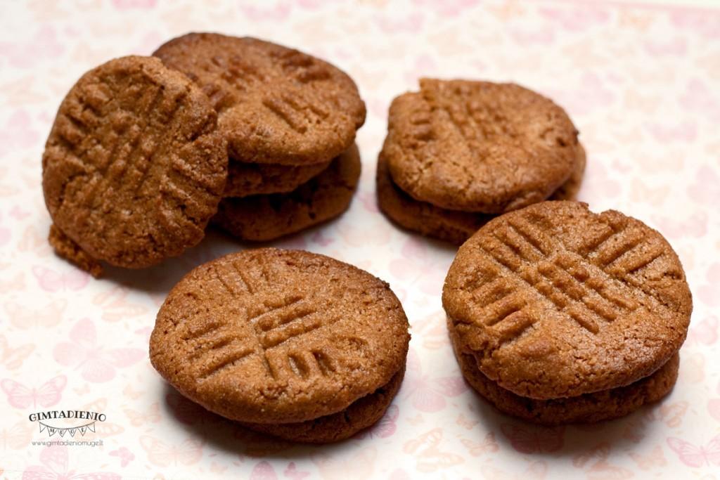 sveiki žemės riešutų svesto sausainiai be gliuteno