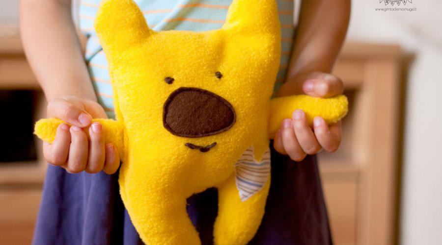 siūti žaislai meškiukas paprastai ir greitai