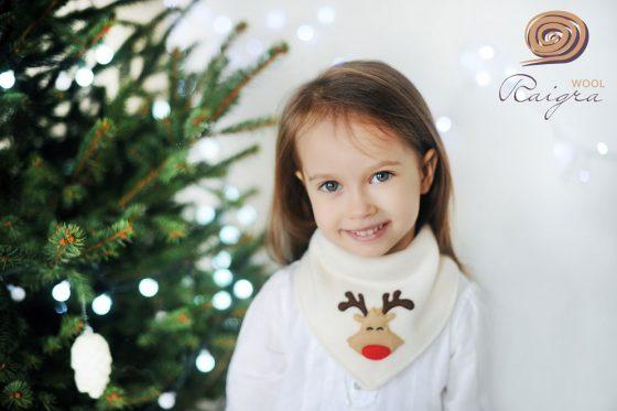 kalėdinė kaklaskarė vaikams