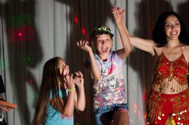 vaikų gimtadienis šokio studijoje