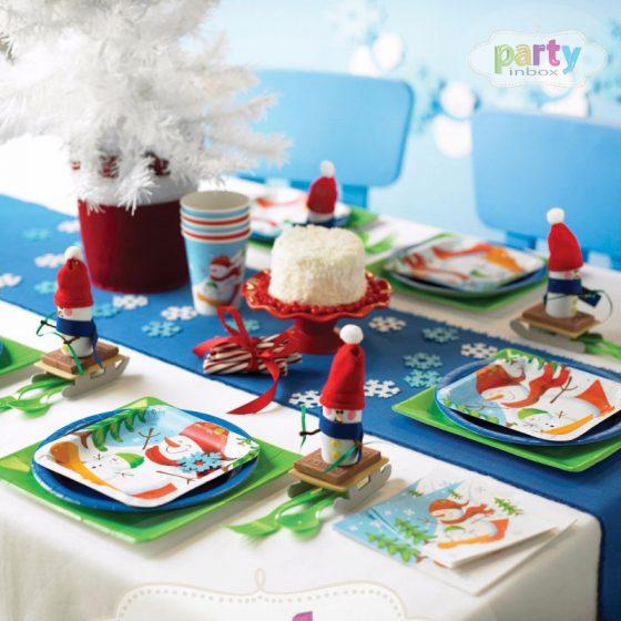 vaikų kalėdos stalo dekoravimui