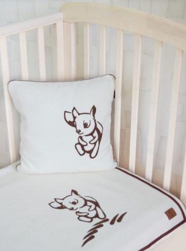 vilnos pledas ir pagalvė kūdikiui