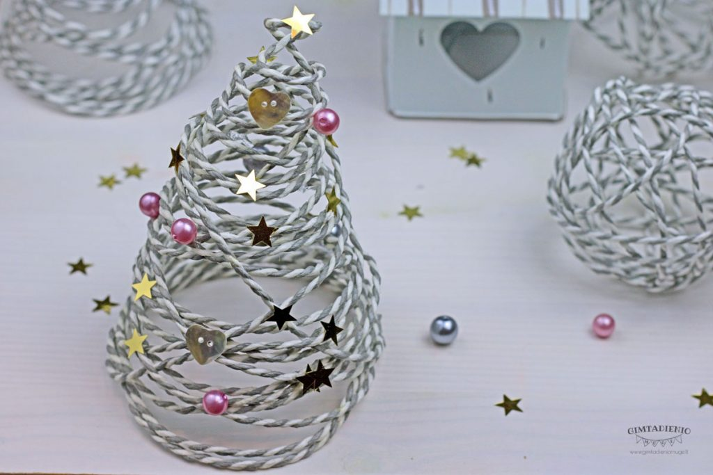 kalėdinė eglutė diy