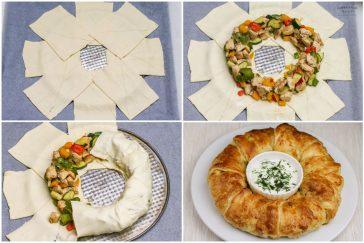 greitas pikantiskaspyragas su mėsa ir daržovėmis
