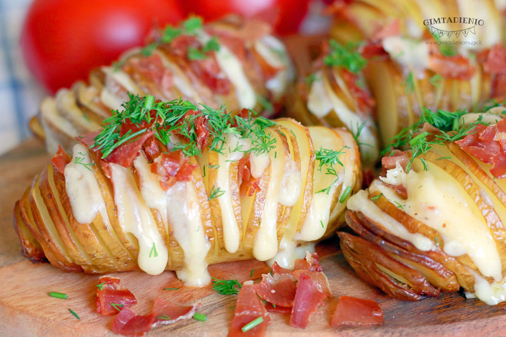 įdarytos bulvės receptas