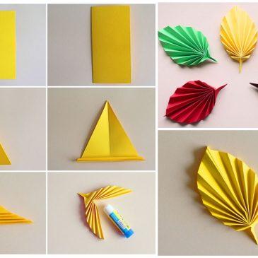 rudens origamis lankstome spalvotus lapus