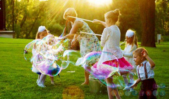 vaiko gimtadienis dideli burbulai