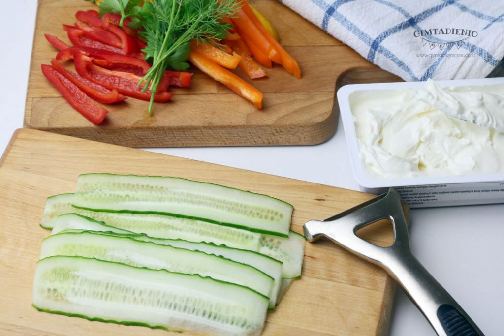 daržovės šventiniam stalui