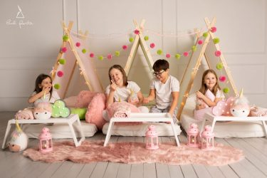 pižamų vakarėlis vaikams idėjos