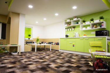 žaidimų kambarys su virtuvėle