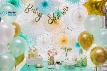 baby shower kūdikio sutiktuvių vakarėlis dekoracios idėjos