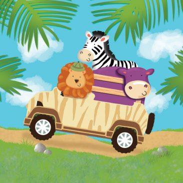 Servetėlės džiunglių safari gimtadieniui