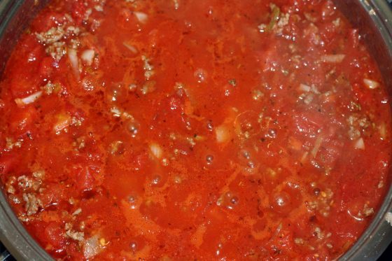 ištroškiname mėsos padažą makaronams