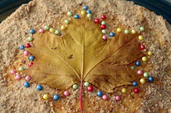 kaip papuošti tortą rudens gimtadieniui