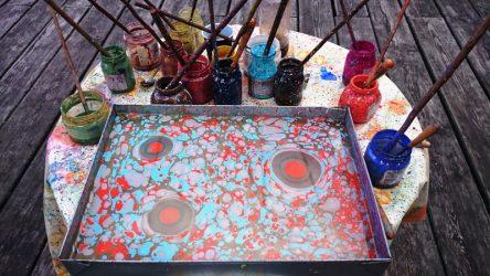 tapymas ant vandens, gimtadienio mugė