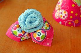 gėlė iš servetėlių