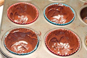 šokoladiniai keksiukų indeliai