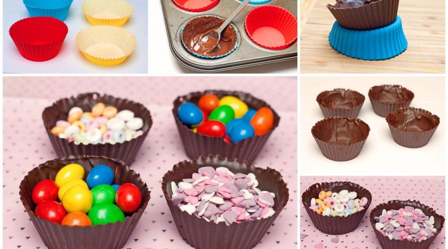 Šokoladiniai valgomi indeliai, gimtadienio mugė