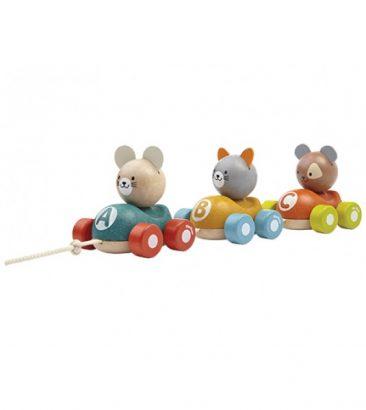 mediniai žaislai vaikams