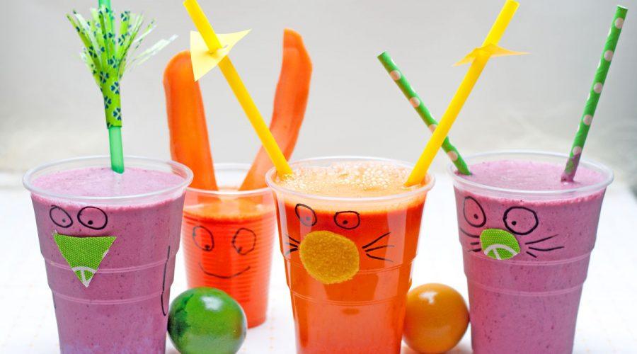 linksmos stiklinės vaikams, sveikas kokteilis