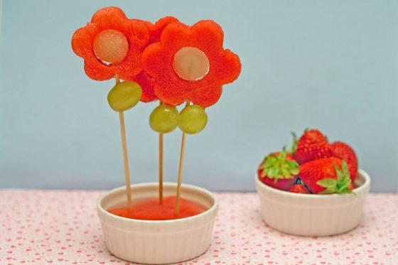 arbūzinės gėlės vaikų gimtadieniui