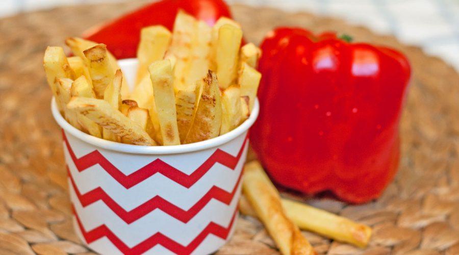 bulvytės fri be riebalų
