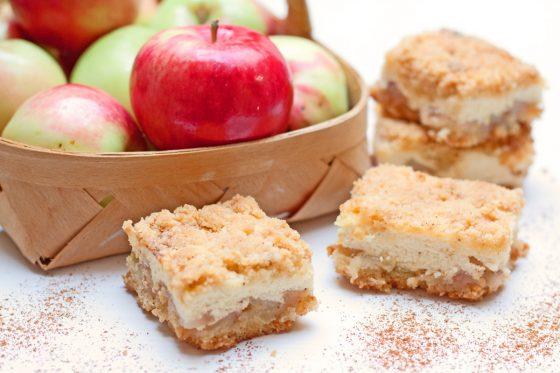 trupininis obuolių ir varškės pyragas gimtadienio mugė