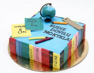 tortas pagal užsakymą mokyklos išleistuvės