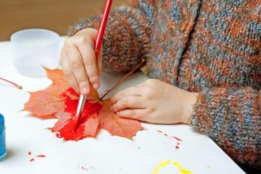 kūrybinės pramogos vaikams rudenį