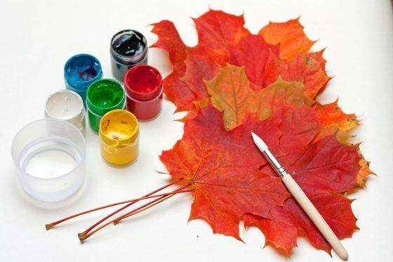 kūrybiniai darbeliai vaikams rudenį
