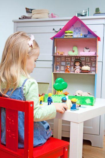 žaislinis namelis kaip padaryti