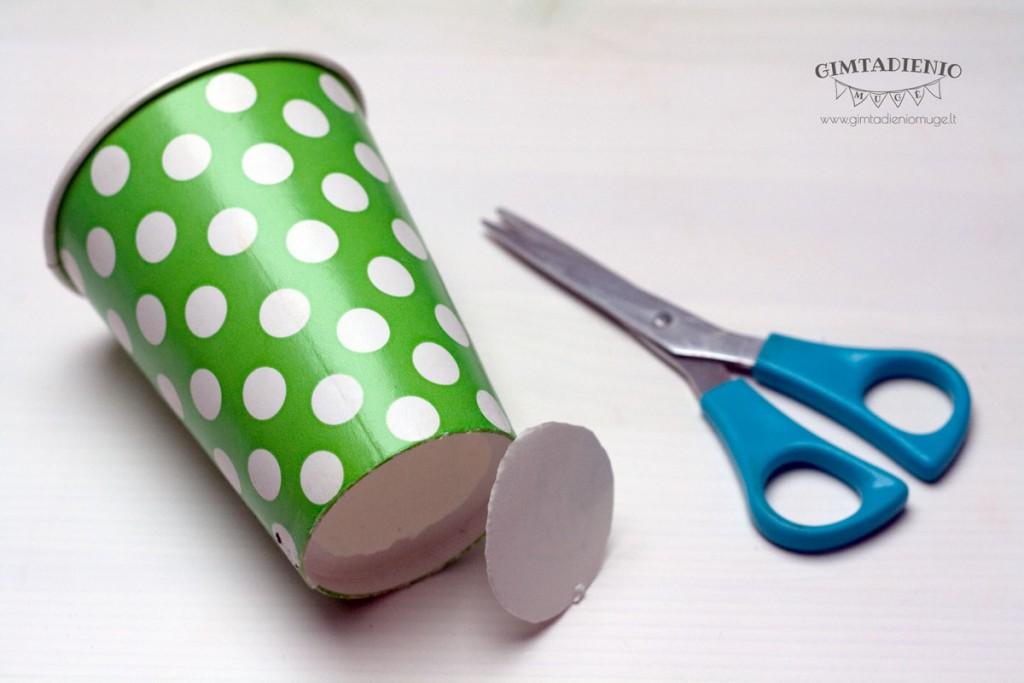 idėjos iš vienkartinių puodelių